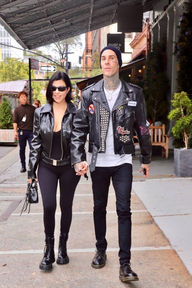 Kourtney Kardashian - With Travis Barker on a Stroll Around NYC