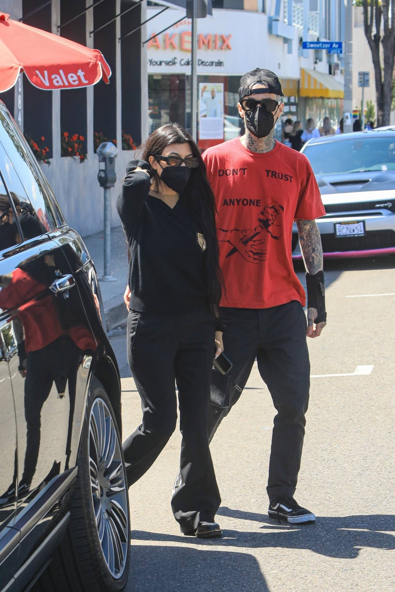 Kourtney Kardashian - With Travis Barker out in West Hollywood