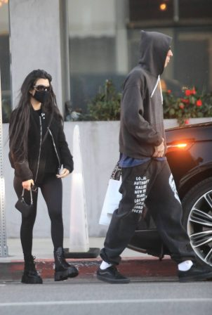Kourtney Kardashian - With Travis Barker seen outside an LA vegan restaurant