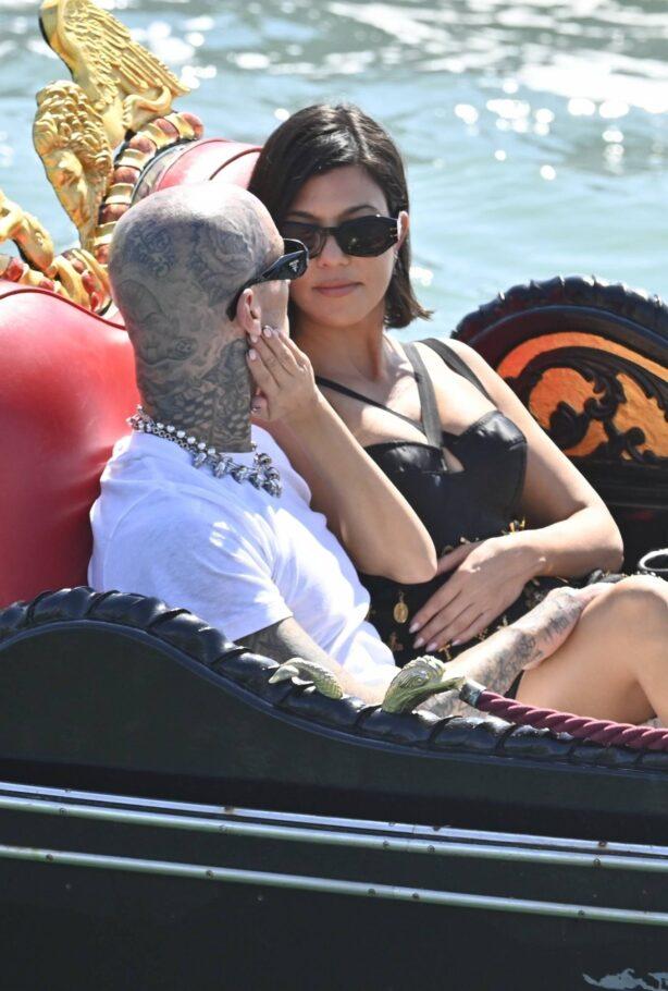 Kourtney Kardashian - With Travis Barker spotted on a gondola ride in Venice