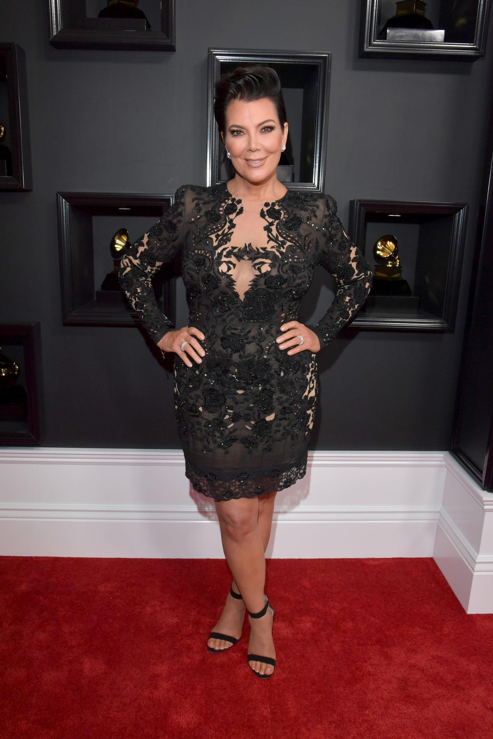 Kris Jenner 59th Grammy Awards In Los Angeles Gotceleb