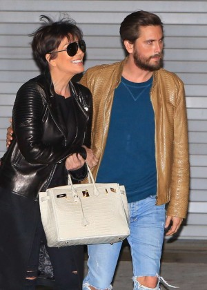 Kris Jenner and Scott Disick Leaving the studio in Hollywood