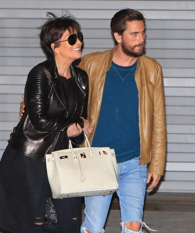 Kris Jenner and Scott Disick Leaving the studio -03