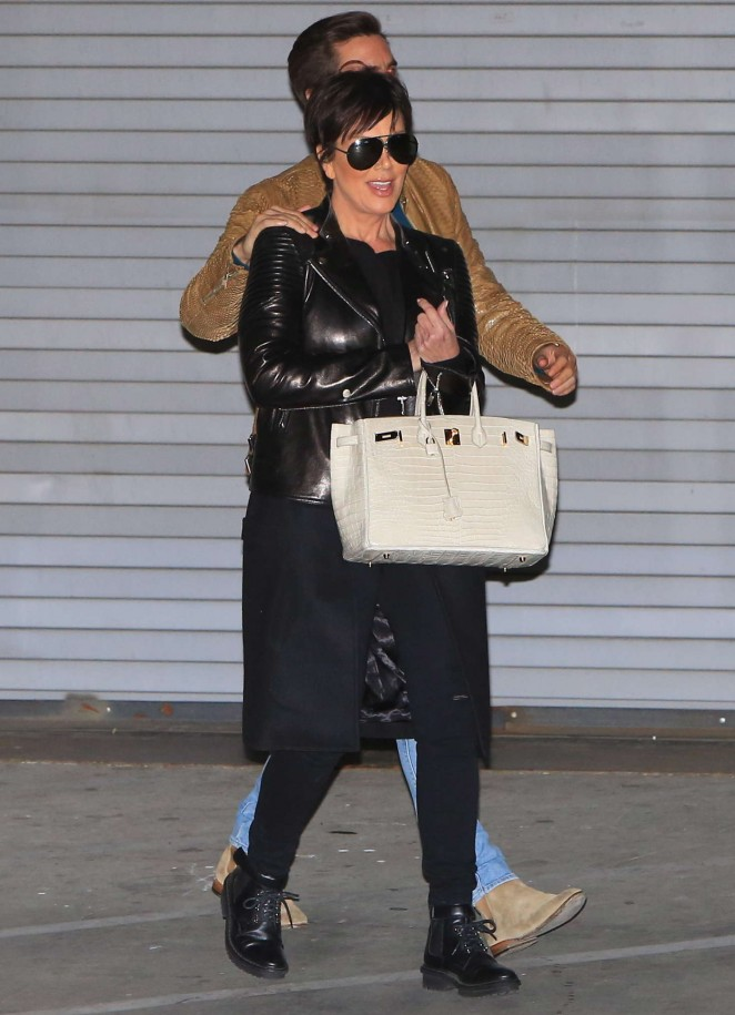Kris Jenner and Scott Disick Leaving the studio -05