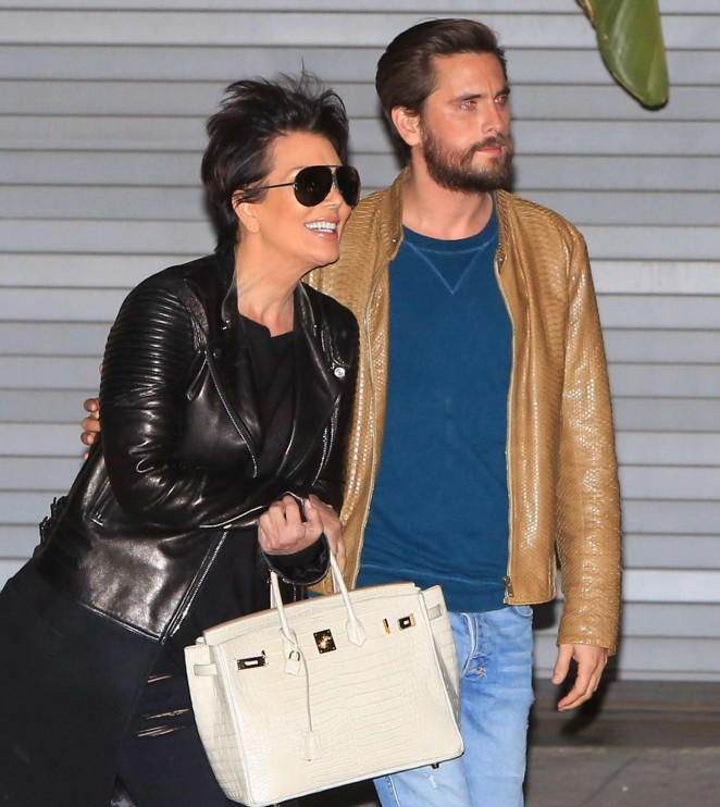 Kris Jenner and Scott Disick Leaving the studio -10