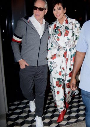 Kris Jenner and Tommy Hillfiger Leaving Craig's in West Hollywood