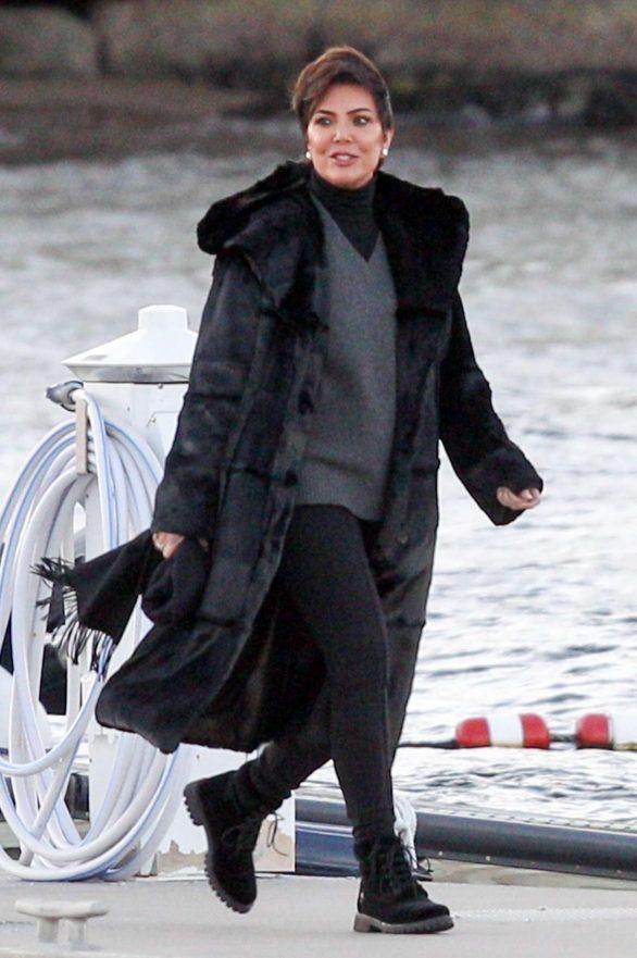 Kris Jenner - Arriving at Jennifer Lawrence's rehearsal dinner in Rhode Island