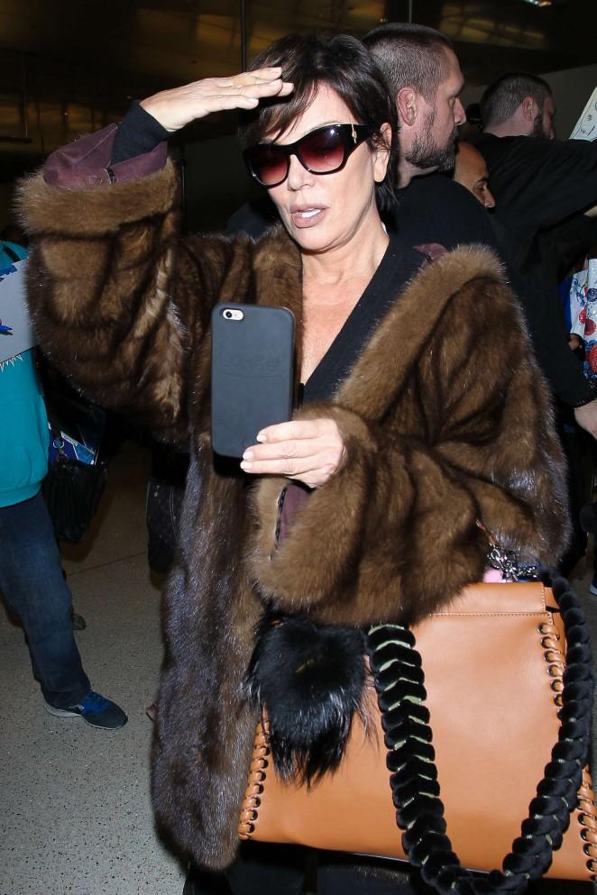 Kris Jenner at LAX Airport in LA