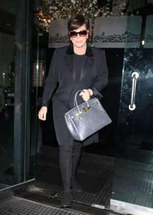 Kris Jenner - Leaving Kathy Hilton's birthday party in LA