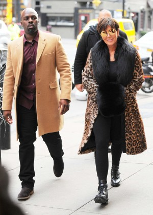 Kris Jenner out in New York