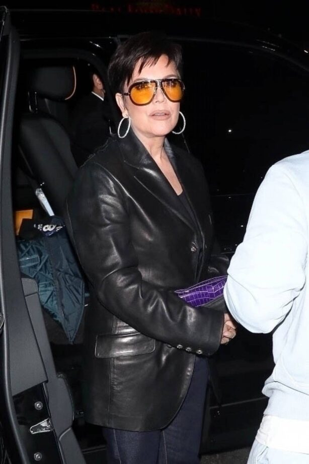 Kris Jenner - Seen arriving at Kendall's launch party at The Nice Guy in West Hollywood