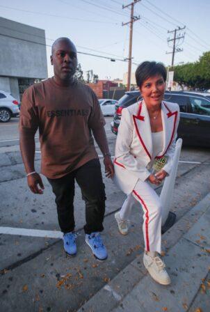 Kris Jenner - Seen leaving Craig's in West Hollywood