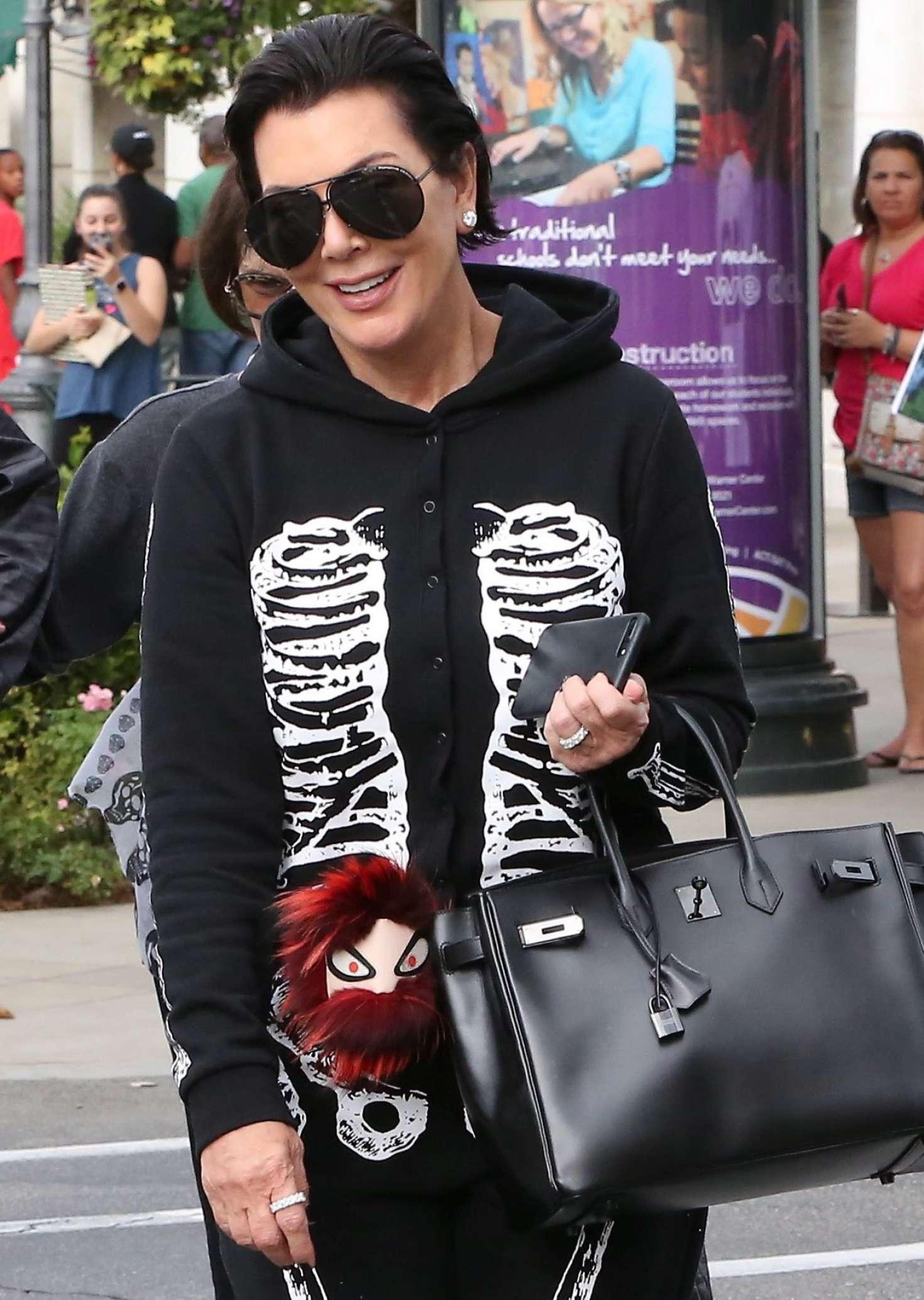 Kris Jenner: Wearing a skeleton costume for Halloween -12 - GotCeleb