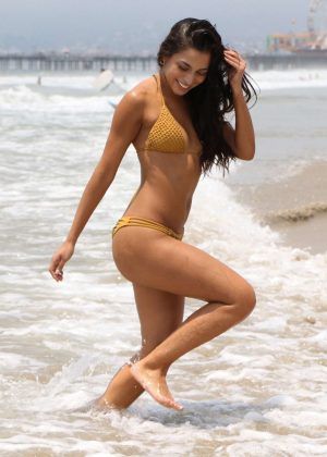 Krislian Rodriguez in Bikini at the beach in Santa Monica
