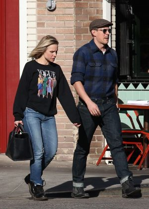 Kristen Bell and Chris Lowell - Out and about in Los Angeles