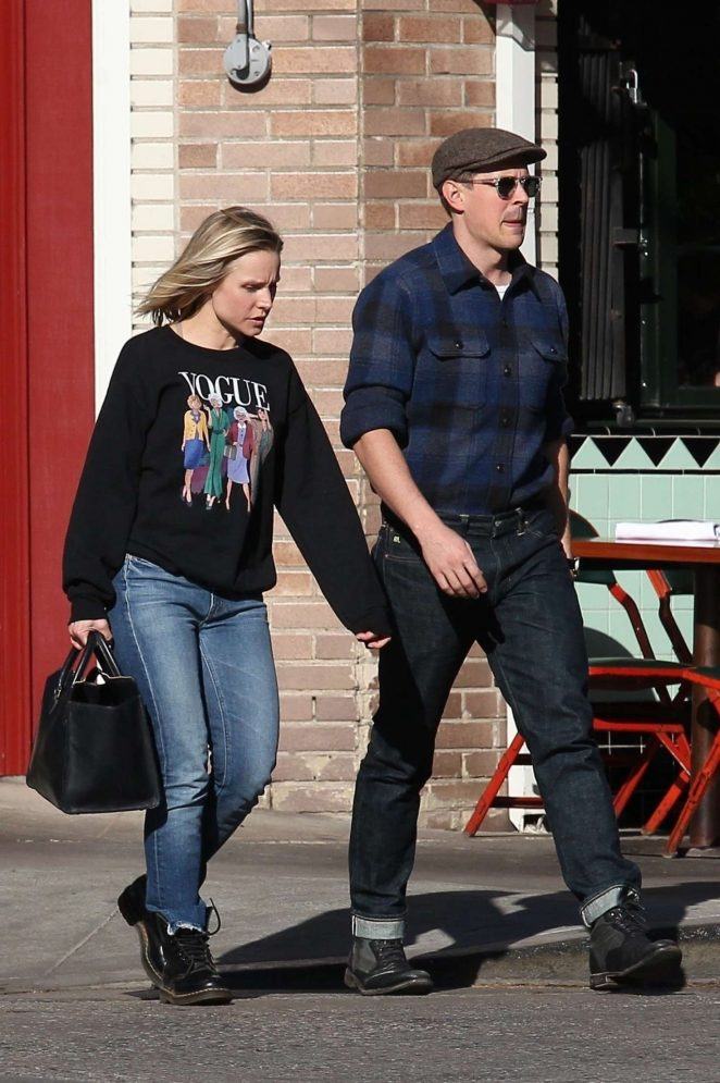 Kristen Bell and Chris Lowell – Out and about in Los Angeles