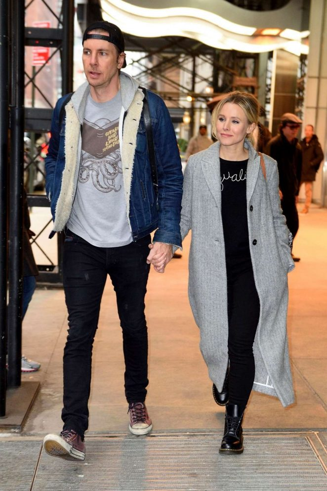 Kristen Bell and Dax Shepard out in New York