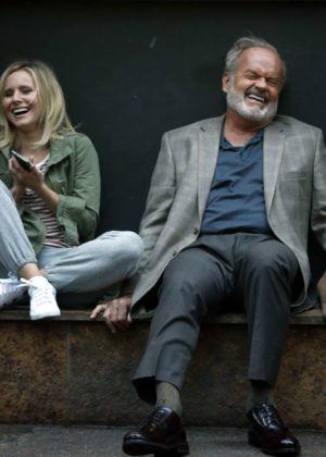 Kristen Bell and Kelsey Grammer - On the set of Like Father in New York