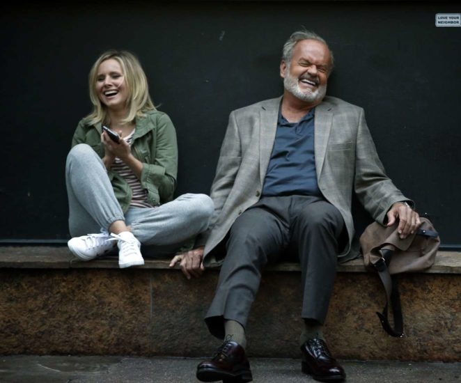 Kristen Bell and Kelsey Grammer – On the set of Like Father in New York