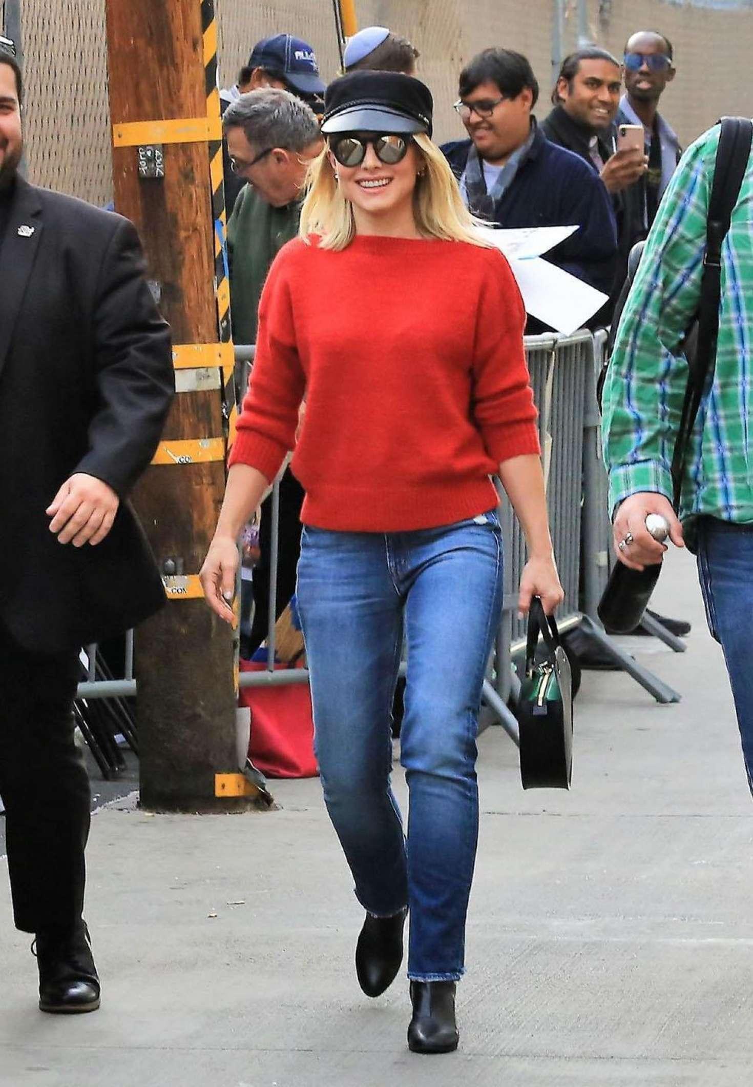 Kristen Bell 2018 : Kristen Bell: Arriving at Jimmy Kimmel Live -02