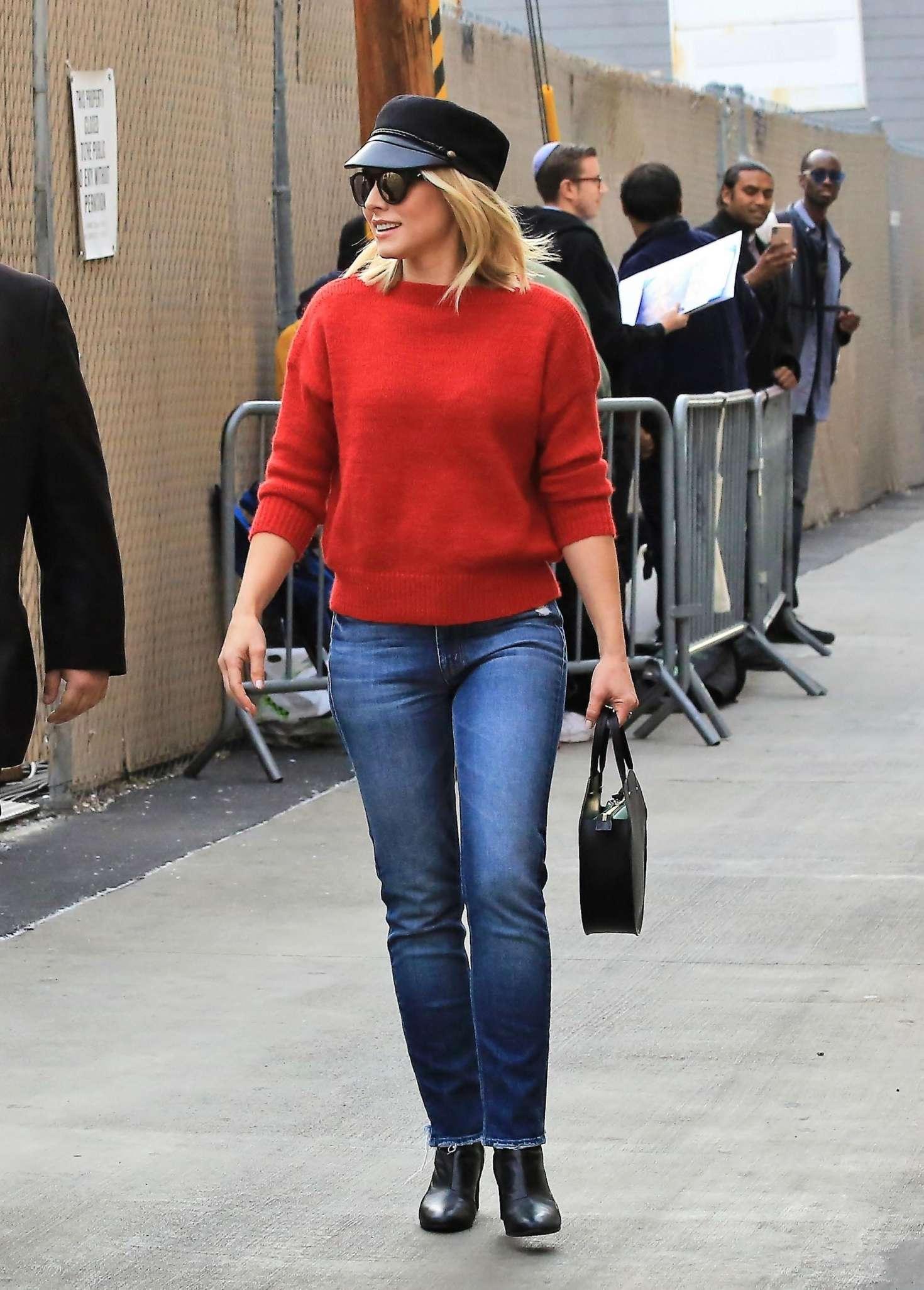 Kristen Bell 2018 : Kristen Bell: Arriving at Jimmy Kimmel Live -04