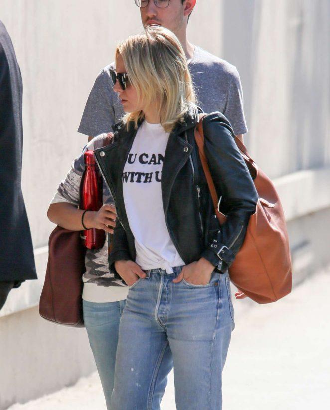 Kristen Bell - Arriving at Jimmy Kimmel Live! in LA