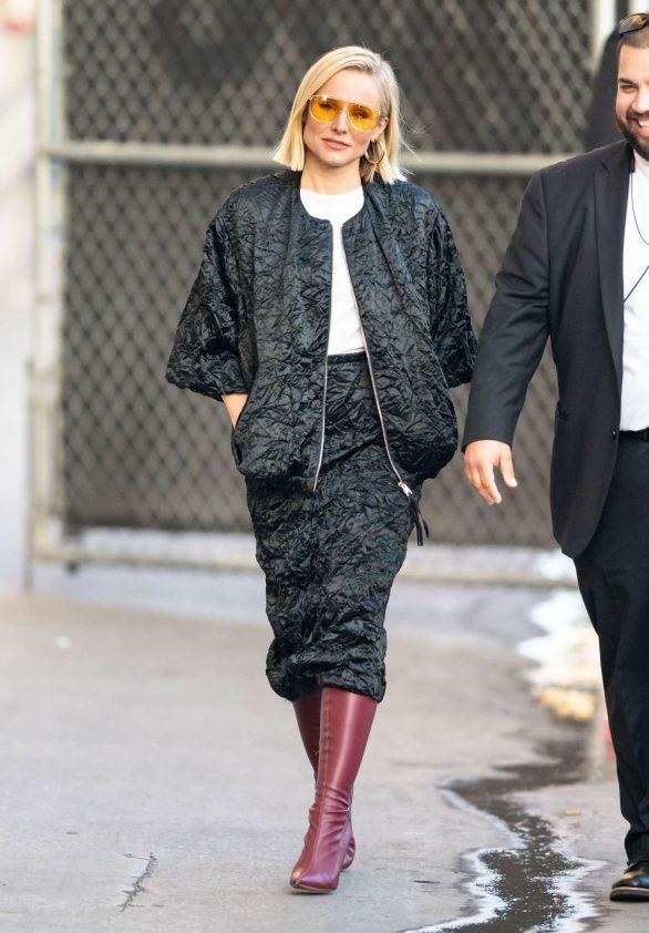 Kristen Bell 2019 : Kristen Bell – Arriving for Jimmy Kimmel in Los Angeles-02