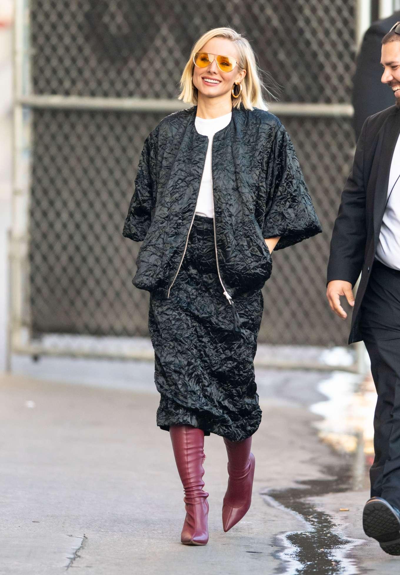 Kristen Bell 2019 : Kristen Bell – Arriving for Jimmy Kimmel in Los Angeles-04