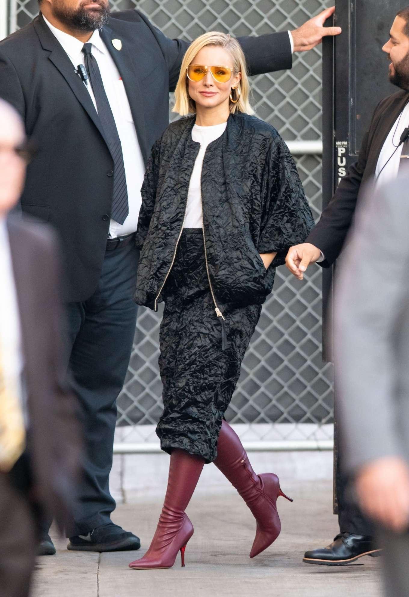 Kristen Bell 2019 : Kristen Bell – Arriving for Jimmy Kimmel in Los Angeles-06