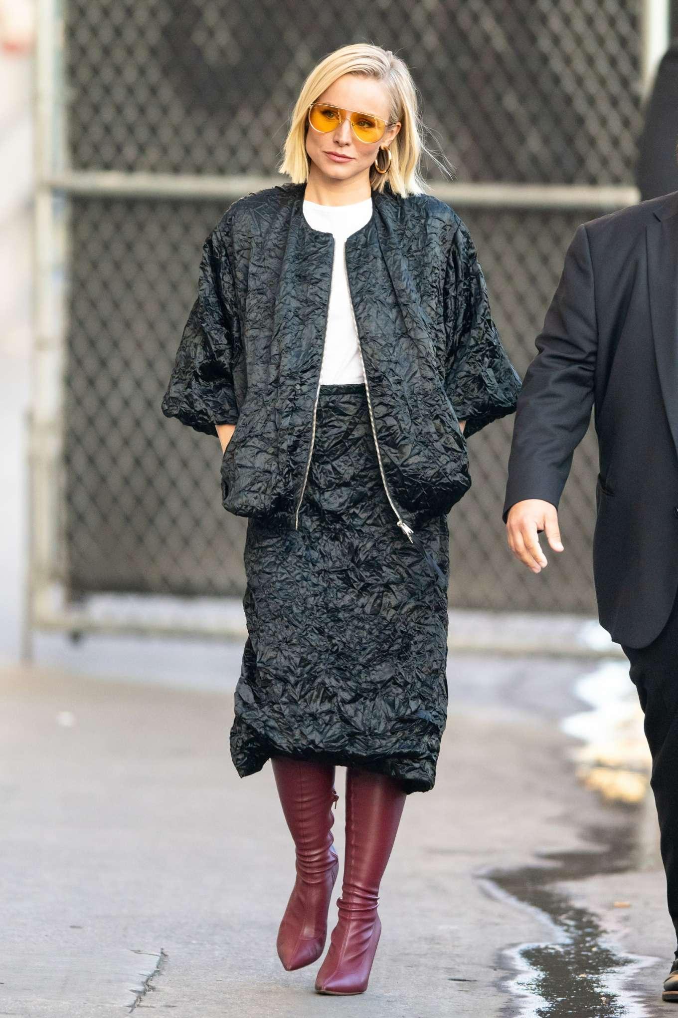 Kristen Bell - Arriving for Jimmy Kimmel in Los Angeles