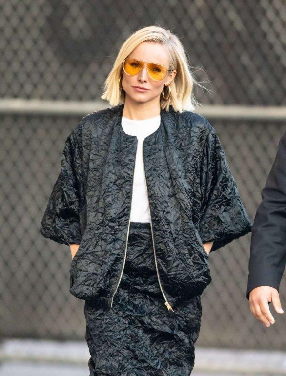 Kristen Bell 2019 : Kristen Bell – Arriving for Jimmy Kimmel in Los Angeles-08