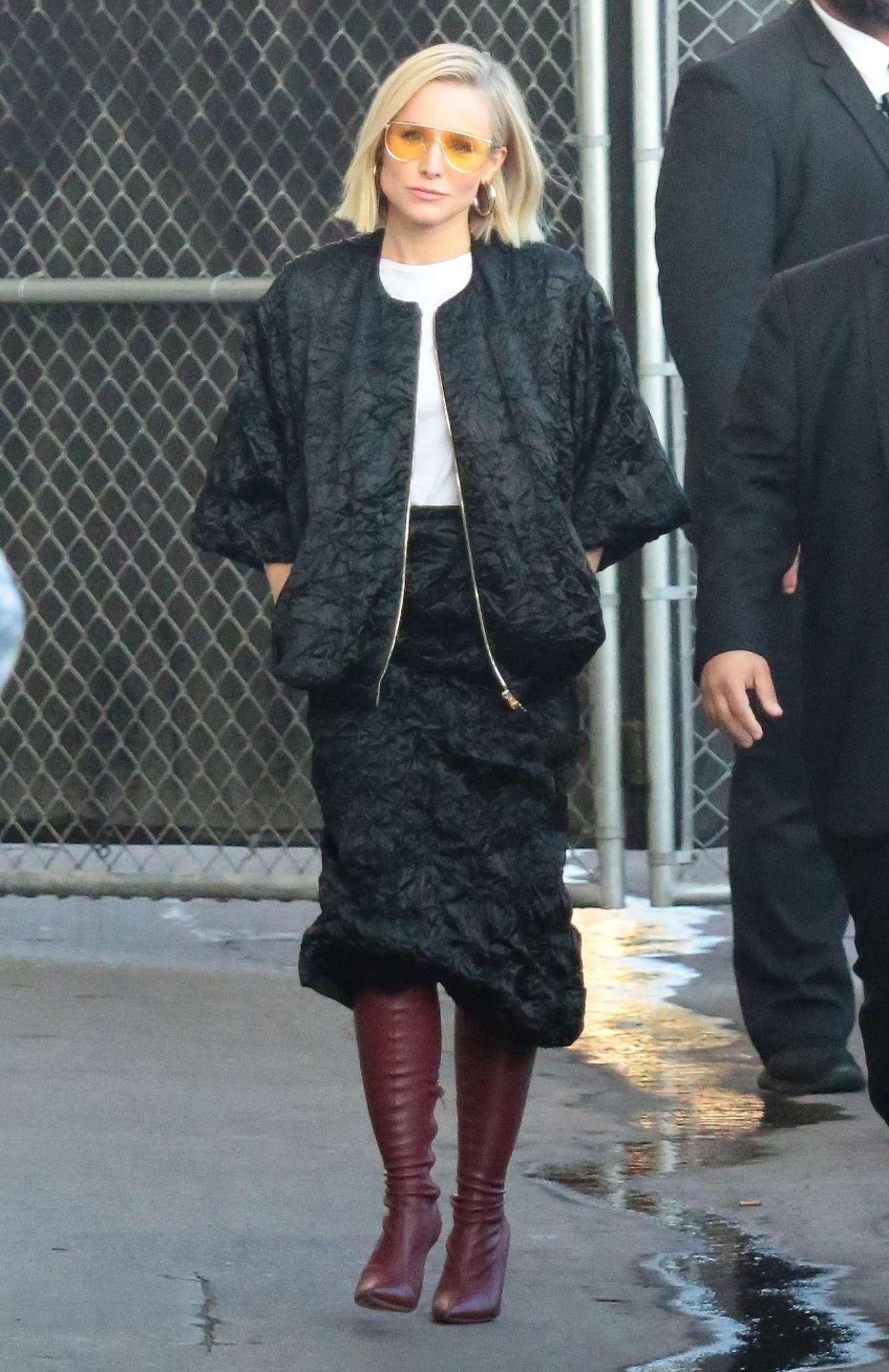Kristen Bell 2019 : Kristen Bell – Arriving for Jimmy Kimmel in Los Angeles-09
