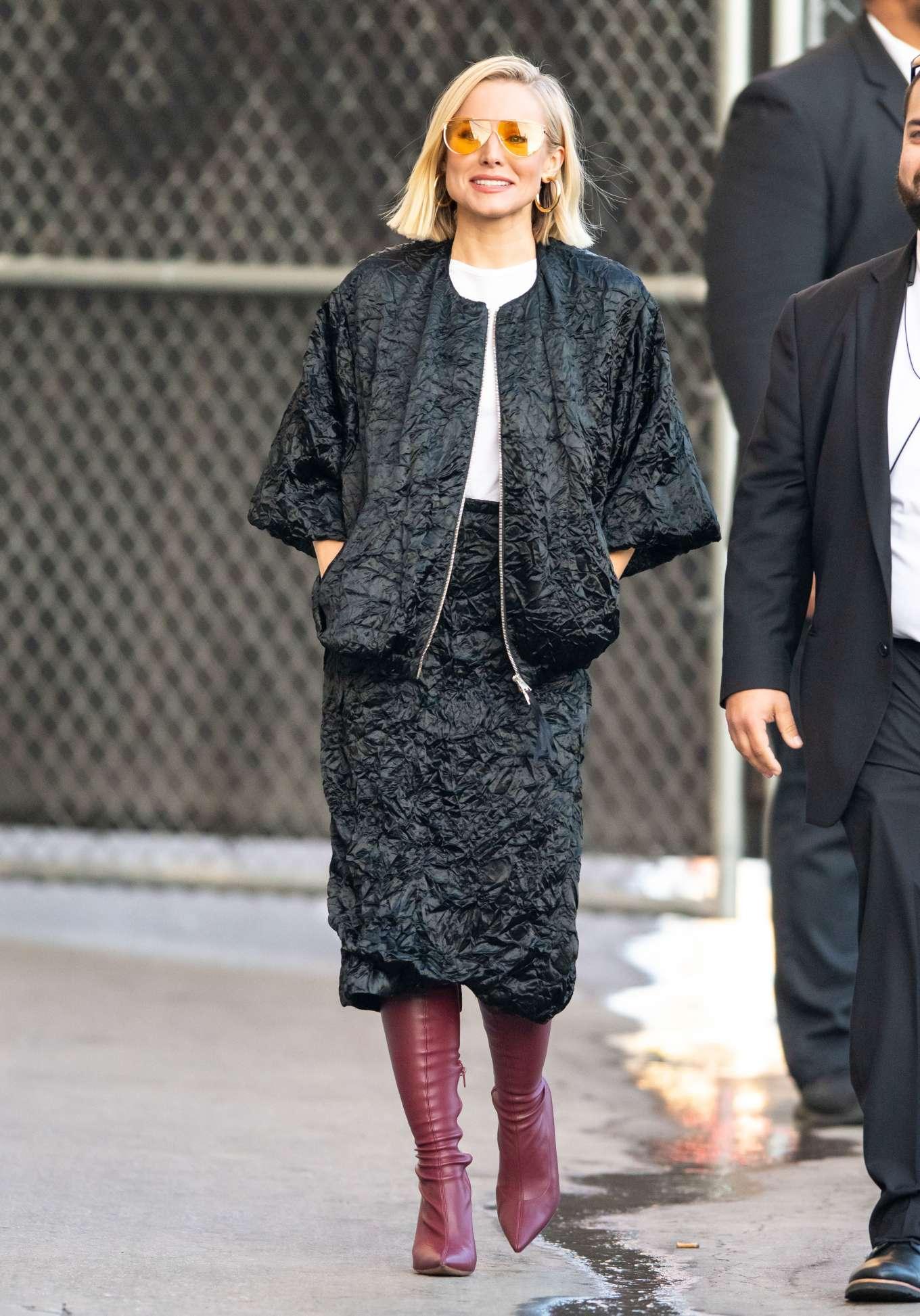 Kristen Bell 2019 : Kristen Bell – Arriving for Jimmy Kimmel in Los Angeles-12