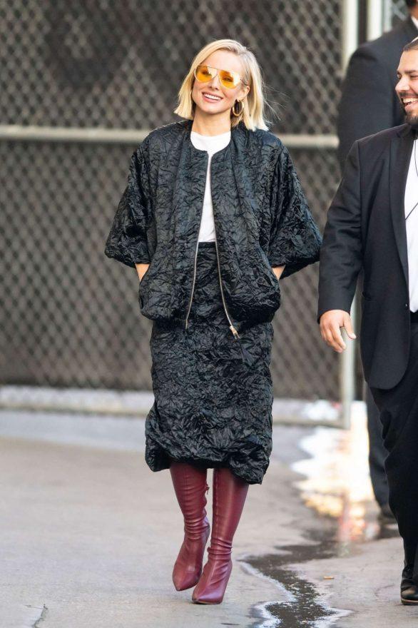 Kristen Bell 2019 : Kristen Bell – Arriving for Jimmy Kimmel in Los Angeles-13