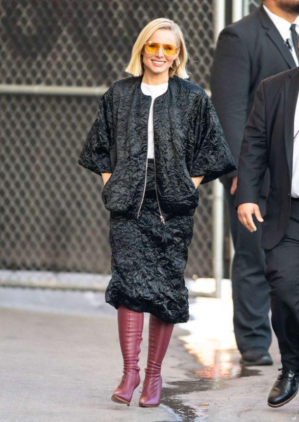 Kristen Bell 2019 : Kristen Bell – Arriving for Jimmy Kimmel in Los Angeles-15