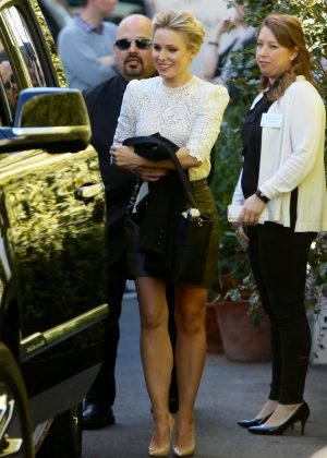 Kristen Bell - Heading to an NBC Press Luncheon in West Hollywood