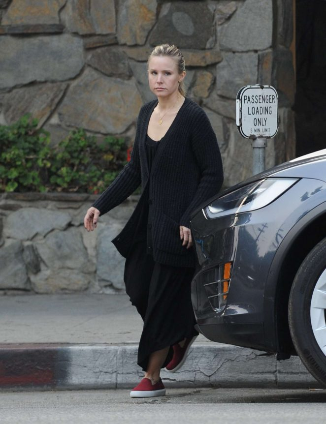 Kristen Bell in Black Outfit - Out in Los Angeles