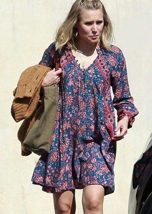 Kristen Bell in Mini Dress - Out in Los Angeles