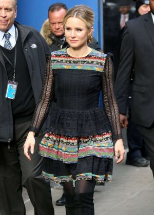 Kristen Bell Leaves Good Morning America in New York