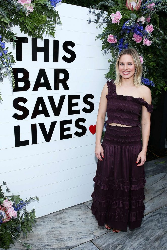 Kristen Bell - This Bar Saves Lives Press Launch Party in West Hollywood