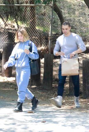 Kristen Bell - With a friend at Griffith Park in Los Feliz