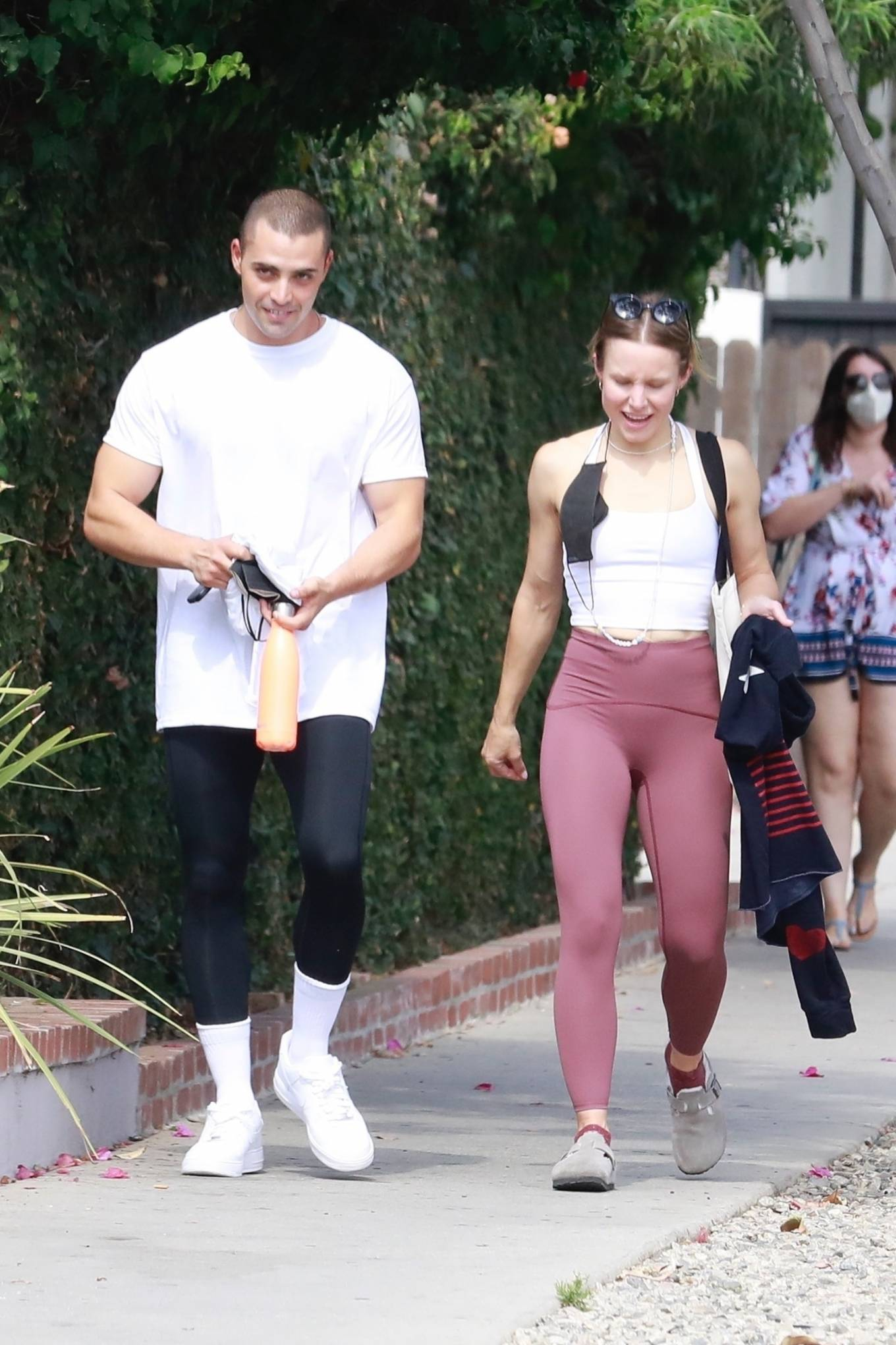 Kristen Bell 2021 : Kristen Bell – With Benjamin Levy Aguilar head to workout in Los Feliz-13