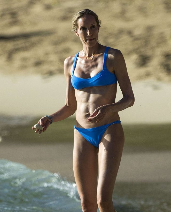 Kristen Pazik in Blue Bikini in Barbados