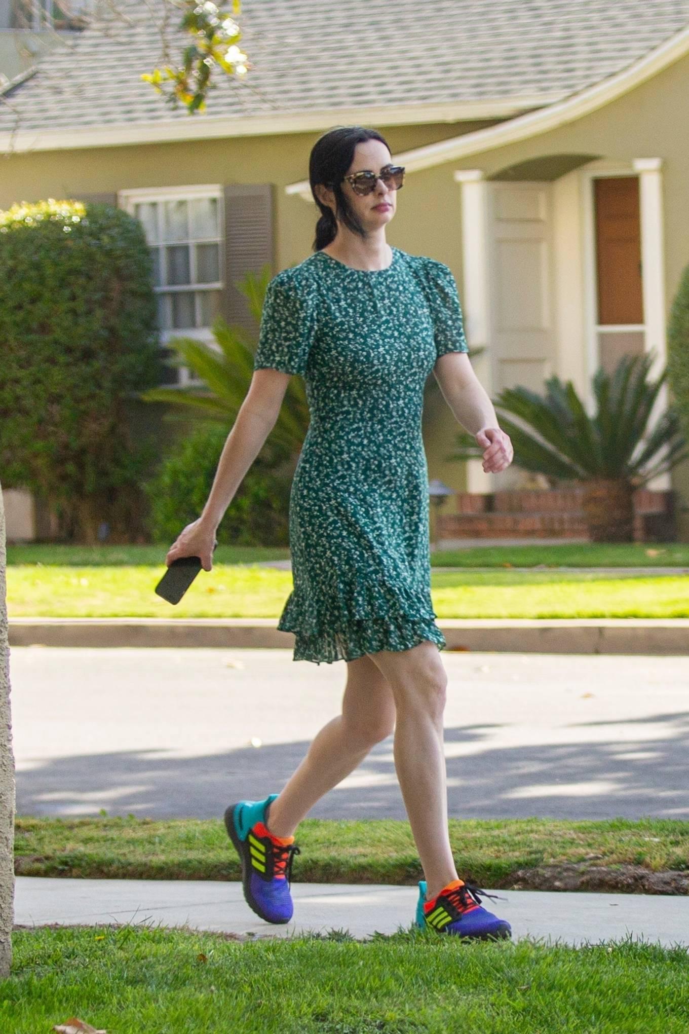 Kristen Ritter 2021 : Kristen Ritter – In green dres with her husband Adam Granofsky in Studio City-02