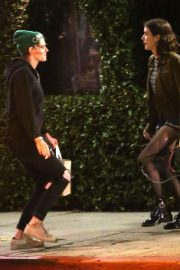 Kristen Stewart and Emma Roberts - Have a little dance off in the street in LA