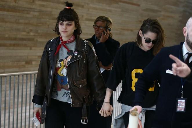 Kristen Stewart and girlfriend SoKo at Charles de Gaulle Airport -06
