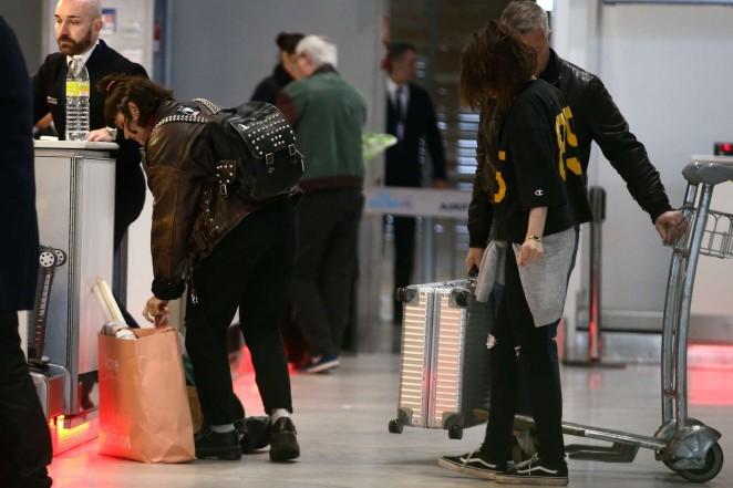 Kristen Stewart and girlfriend SoKo at Charles de Gaulle Airport -08