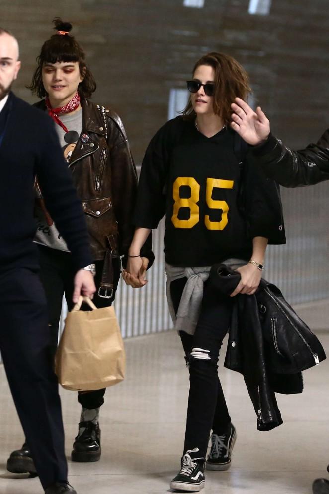 Kristen Stewart and girlfriend SoKo at Charles de Gaulle Airport -16