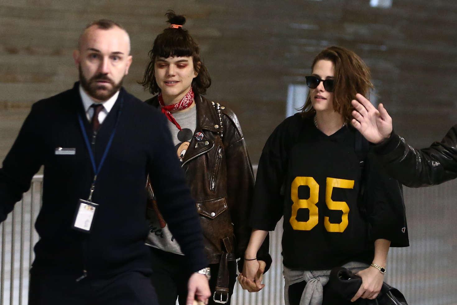 Kristen Stewart 2016 : Kristen Stewart and girlfriend SoKo at Charles de Gaulle Airport -19