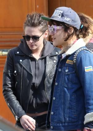 Kristen Stewart and girlfriend Soko leaving the dentist in Paris